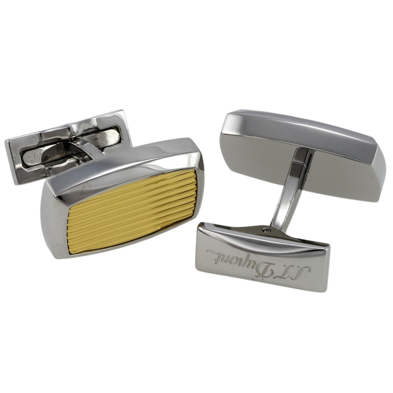 Guilloche Style Gold/Palladium Cufflinks 005503