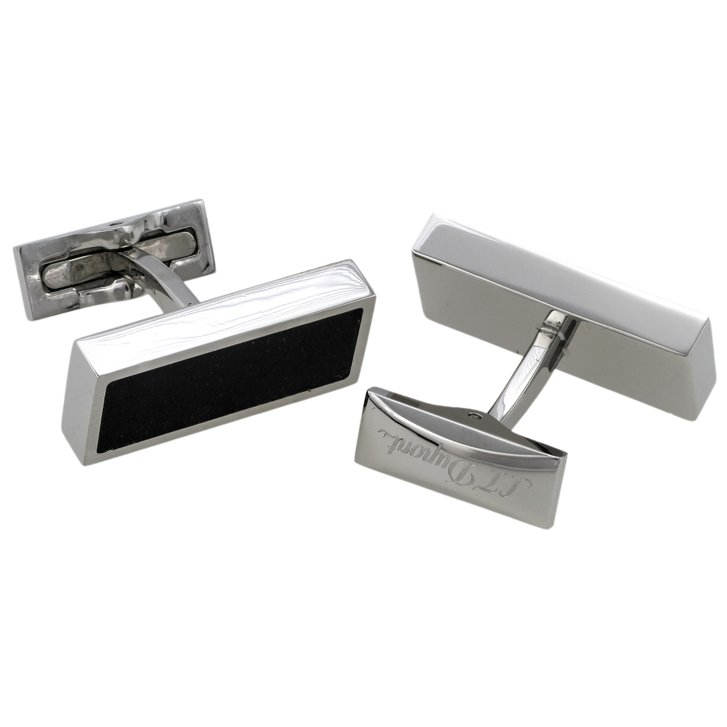 Boutons Defi Stainless Steel and Caoutchouc Cufflinks 005632