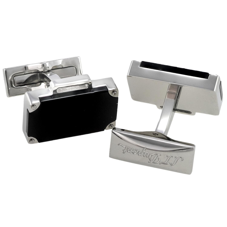 Black Lacquer & Palladium Cufflinks 005760