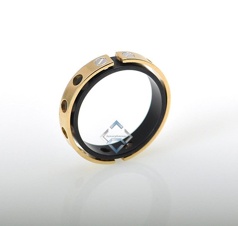 Baraka 18K Gold High Tech Ceramic Ring - Estate!