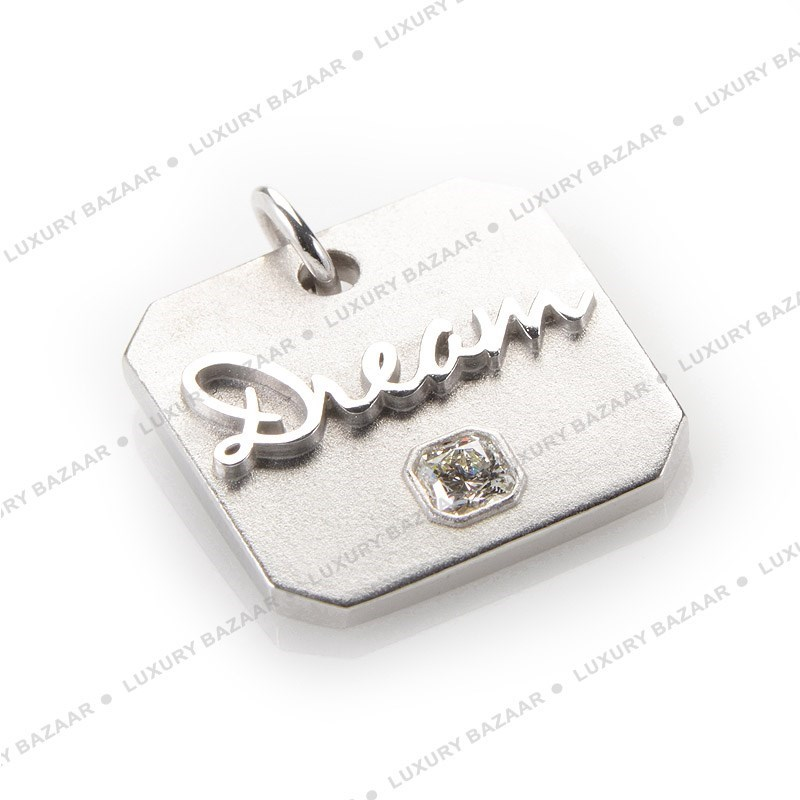 18K White Gold Diamond Dream Charm