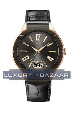 Piaget Polo (RG/Black/Leather)