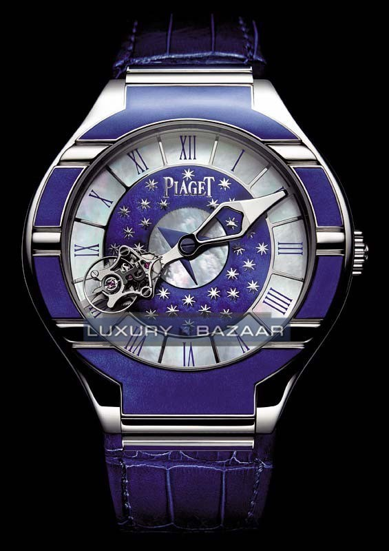 Piaget Polo Tourbillon Relatif dedicated to Venice (WG/Blue -MOP/ Blue Leather)