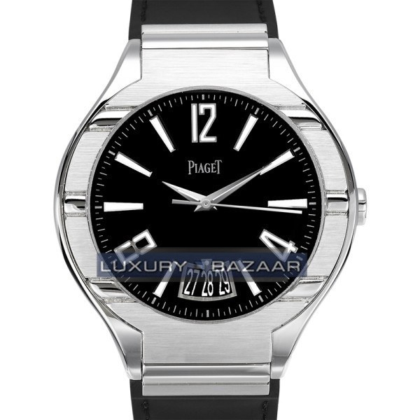 Piaget Polo Date (WG/Black /Leather)