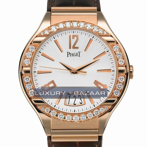 Piaget Polo Date (RG-Diamond /White /Leather)
