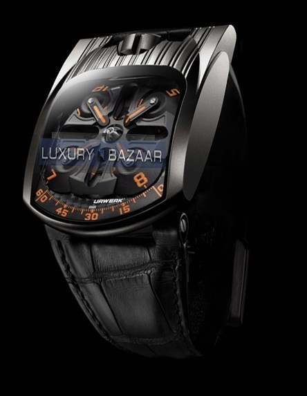UR 103T Mexican Fireleg (SS-ALTin / Black-Orange / Leather Strap)
