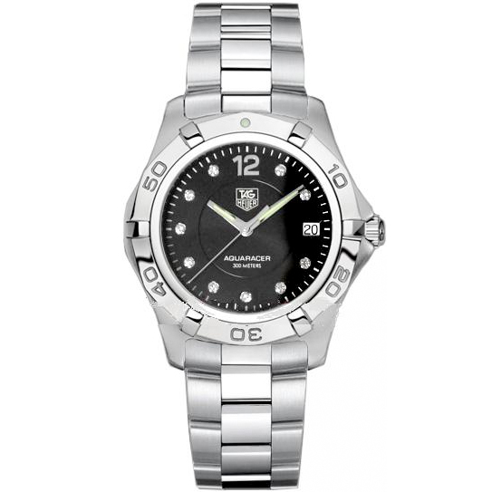 Tag Heuer Aquaracer (SS / Black-Diamonds / SS Bracelet)