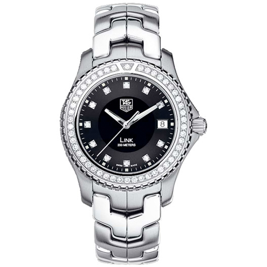 Tag Heuer Link (SS-Diamonds /Black -Diamonds/ SS)