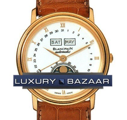 Villeret Complete Calendar (18kt YG / Brown Leather)