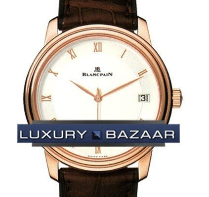 Villeret Ultra-Slim Date (18kt RG / White / Leather)