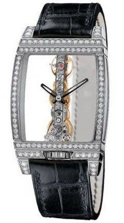 Golden Bridge Diamonds (WG-Diamonds / Skeleton / Leather Strap)