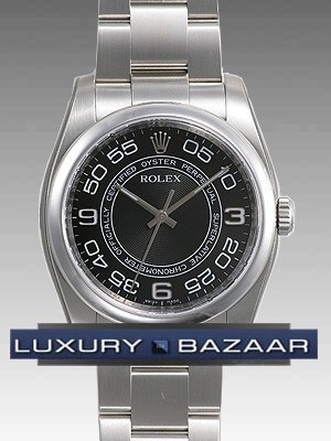 Rolex Oyster perpetual (SS/ Black-Arabic nambers / SS)