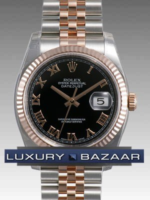 Oyster Perpetual Datejust 36mm Fluted Bezel 116231 bkrj