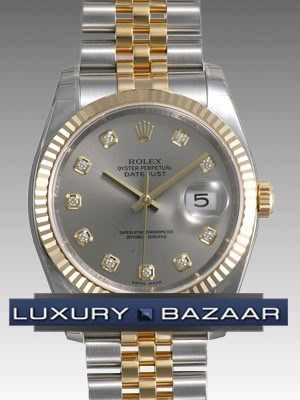 Oyster Perpetual Datejust 36mm Fluted Bezel 116233 gdj