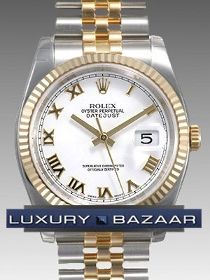 Oyster Perpetual Datejust 36mm Fluted Bezel 116233 wrj
