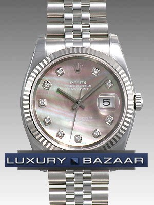 Oyster Perpetual Datejust 36mm Fluted Bezel 116234 dkmdj