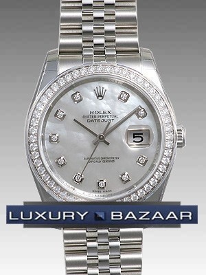 Oyster Perpetual Datejust 36mm Diamond Bezel 116244 mdj