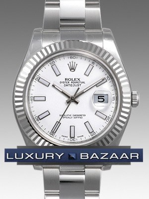Oyster Perpetual Datejust II 41mm Fluted Bezel 116334 wio