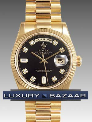 Rolex Oyster Perpetual Day Date Black Face