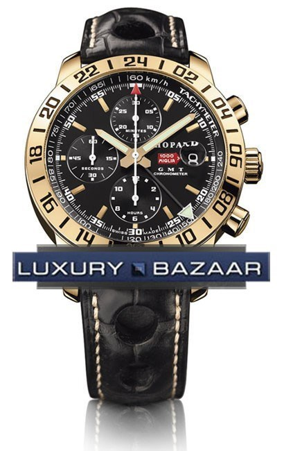 Mille Miglia GMT (RG / Black / Leather)