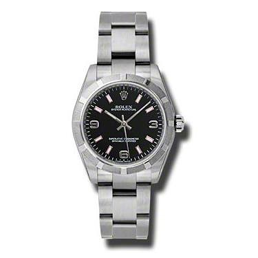 Oyster Perpetual No-Date Mid-Size - 31mm - Engine Turned Bezel 177210 bkapio