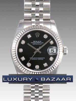 Oyster Perpetual Datejust 31mm Fluted Bezel 178274 bkdj