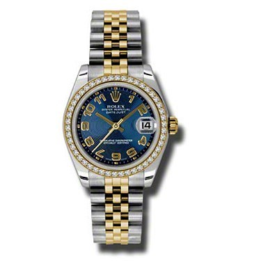 Oyster Perpetual Datejust 31mm Diamond Bezel 178383 blcaj