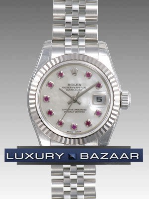 Oyster Perpetual Lady-Datejust 26 Fluted Bezel 179174 mrbj