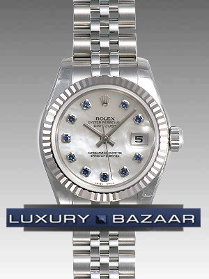 Oyster Perpetual Lady-Datejust 26 Fluted Beze 179174 msaj