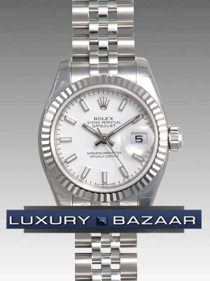 Oyster Perpetual Lady-Datejust 26 Fluted Bezel 179174 wsj