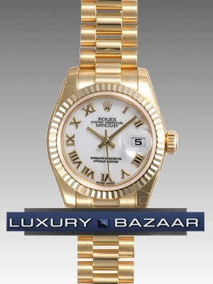Datejust Lady Gold 26mm Fluted President 179178 wrp