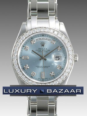 Rolex Oyster perpetual Day-Date (Platinum-Diamonds/ Ice Blue-diamonds /Platinum)