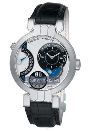 Premier Timezone (WG / White / Leather Strap)