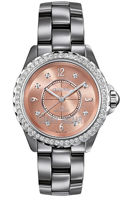 J12 Chromatic Rose Titanium Ceramic Diamonds 38 mm