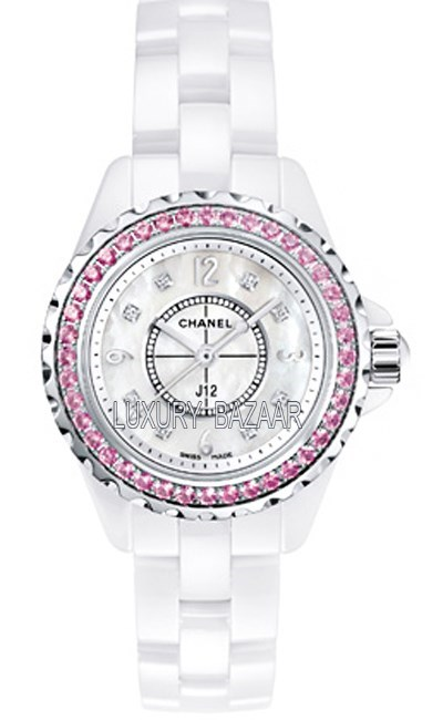 J12 Classic Diamond-Pink Sapphires 29 mm