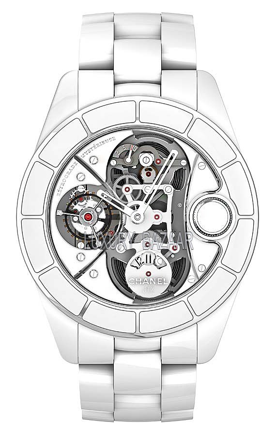 J12 Retrograde Mystery Tourbillon White Gold White Ceramic