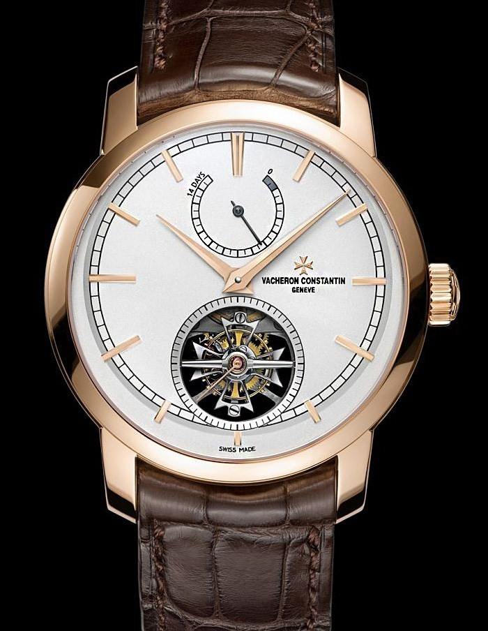 Patrimony Traditionnelle 14 Day Tourbillon (PG / Silver / Leather Strap)