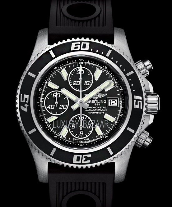 Superocean Chronograph II Steel & Abyss White a13341a8/ba84-1rd