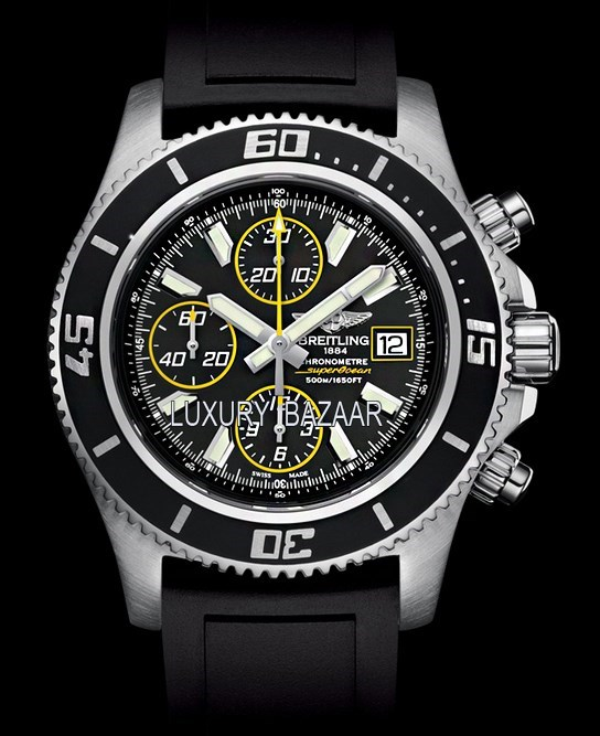 Superocean Chronograph II Steel & Abyss Yellow a13341a8/ba82-1rd
