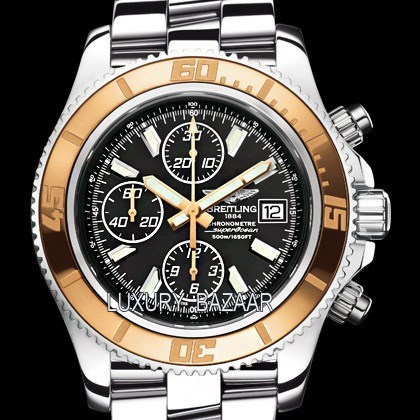Superocean Chronograph II Steel & Red Gold