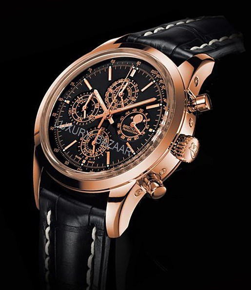 Transocean Chronograph QP Red Gold