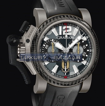 Graham Chronofighter Oversize SAS II (Titanium / Black Camouflage/ Rubber)
