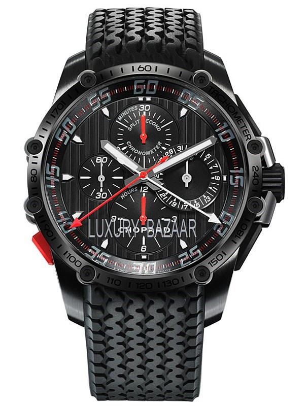 Classic Racing Superfast Chrono Split Second (SS-DLC / Black / Rubber Strap)