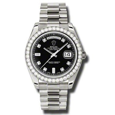 Day-Date II President White Gold - Diamond Bezel 218349 bkdp