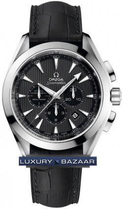 Seamaster Aqua Terra Chronograph (SS / Grey / Croc leather)