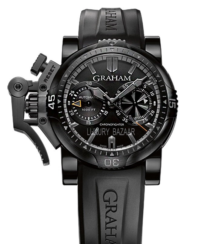 Chronofighter Oversize Diver Deep Black with Orange Hands 2OVEB.B40A