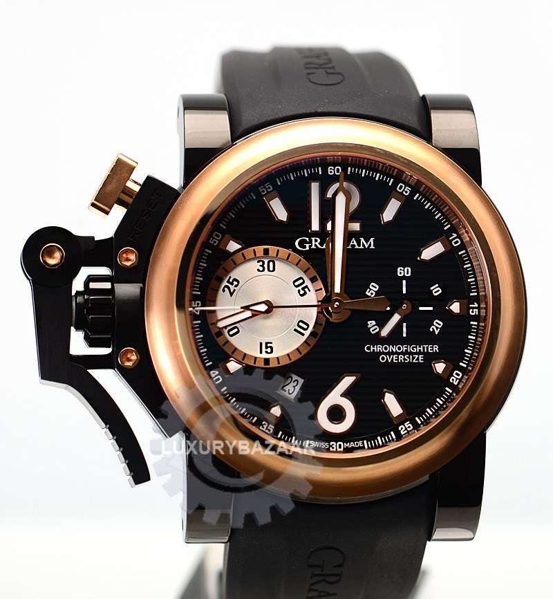 Chronofighter Oversize Black Label 2OVBZ.B1A.K10B