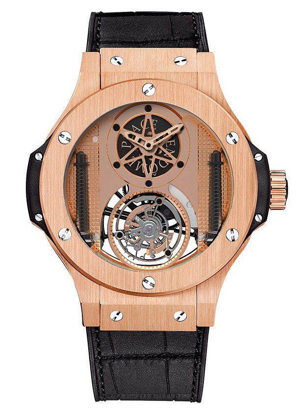 Vendome Gold Tourbillon (RG / RG / Alligator Rubber Strap)