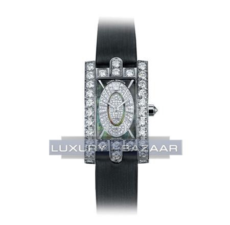 Harry Winston Avenue Classic Oval dial ( WG-Diamonds / MOP-Diamonds / Satin)