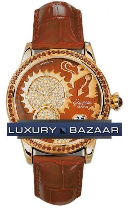 Golden Dragon (RG / Red-Gold-Diamonds / Leather or Satin Strap